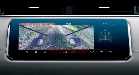 Ground View mode lets you 'look through' the bonnet of your Land Rover
