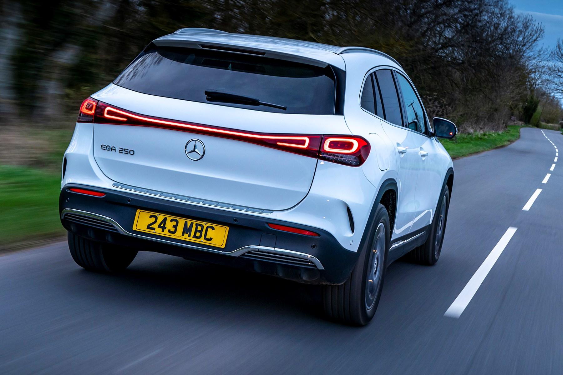 Mercedes-Benz EQA 250 (2021) rear, driving