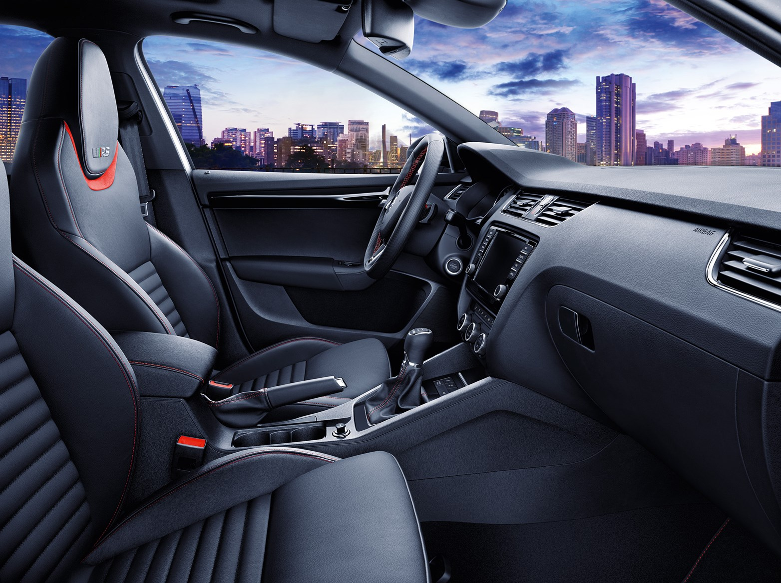 The new 2015 skoda octavia vrs 230 inside cabin of new octavia vrs 230