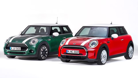 Mini Hatch pre- and post-2021 facelift
