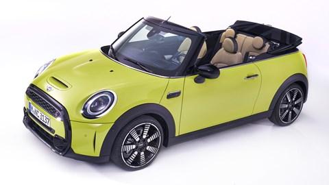 2021 Mini Convertible front three-quarter