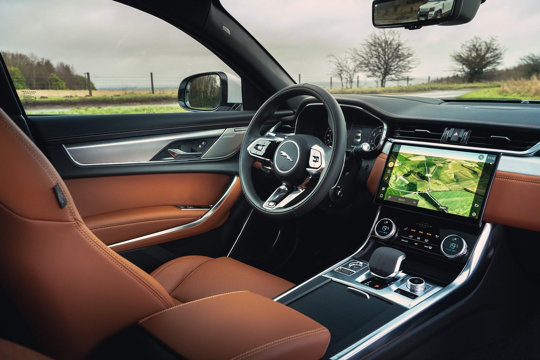 Jaguar XF 2021 facelift P300 R-Dynamic SE driving position