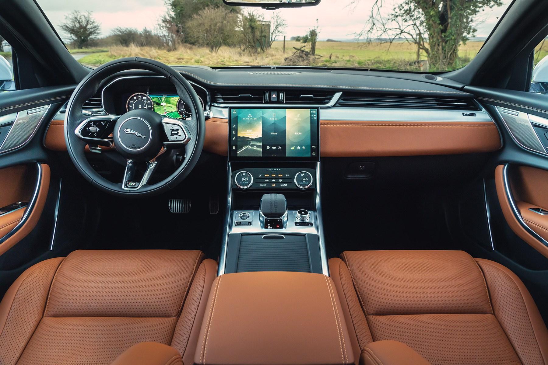 Jaguar XF 2021 facelift P300 R-Dynamic SE interior