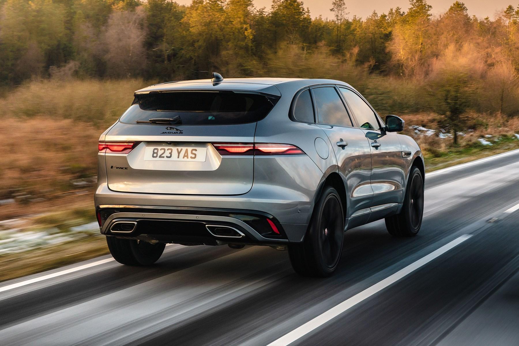 Jaguar F-Pace 2021 driving rear