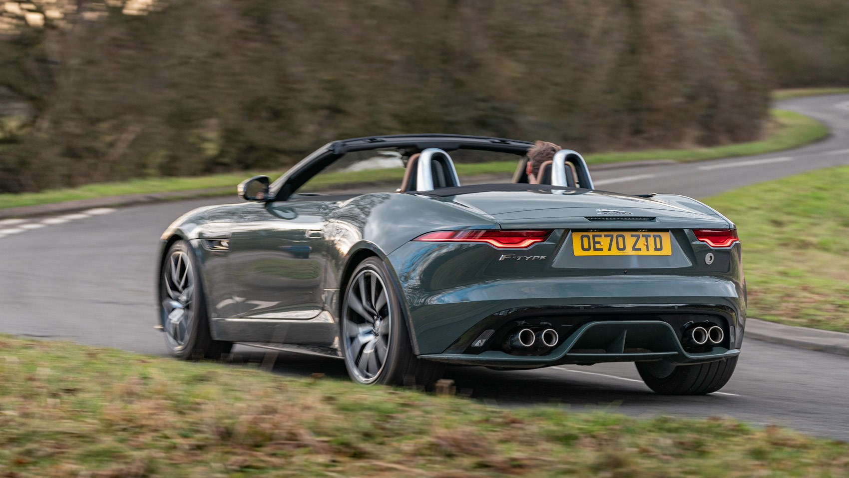 F-Type R convertible 60 rear cornering