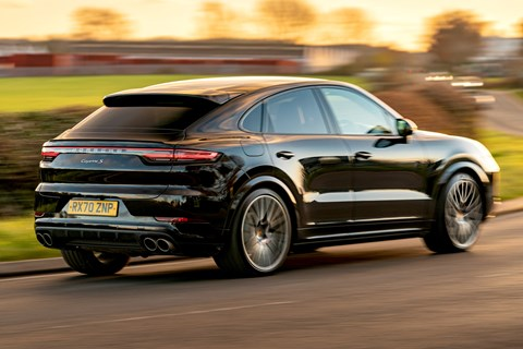cayenne coupe rear cornering