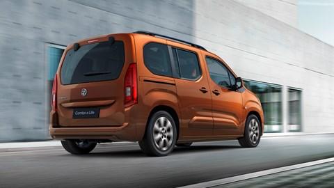 Copper 2021 Vauxhall Combo-e Life rear three-quarter