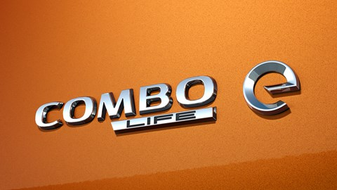 Copper 2021 Vauxhall Combo-e Life tailgate badge