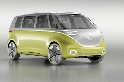 2017 VW I.D. Buzz concept - front three quarter