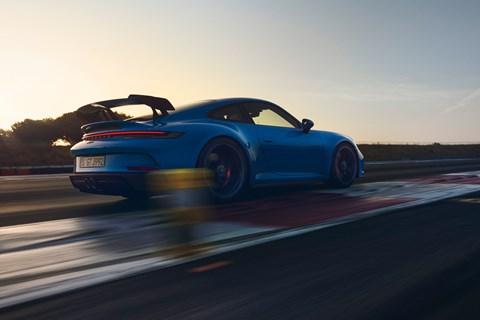 911 gt3 rear cornering track