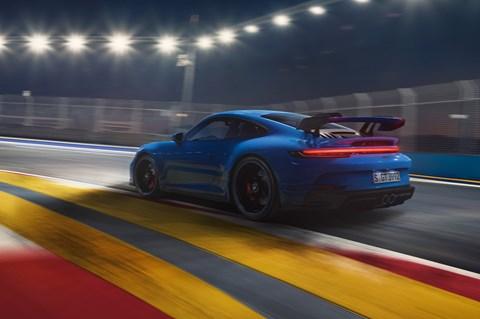 911 gt3 rear cornering