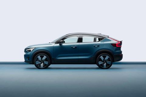 Volvo C40 side profile