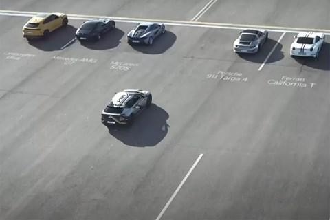 Kia EV6 in drag race