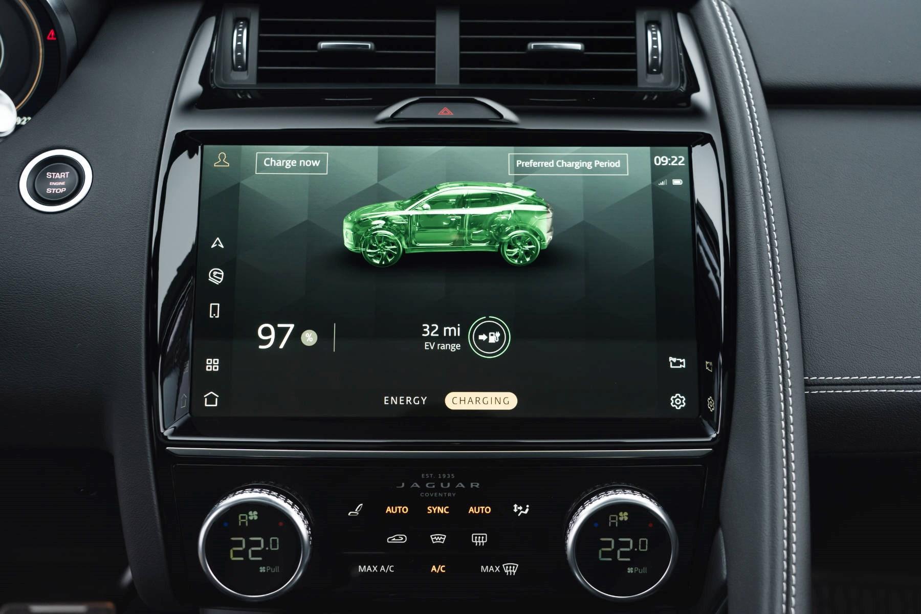 Jaguar E-Pace hybrid infotainment