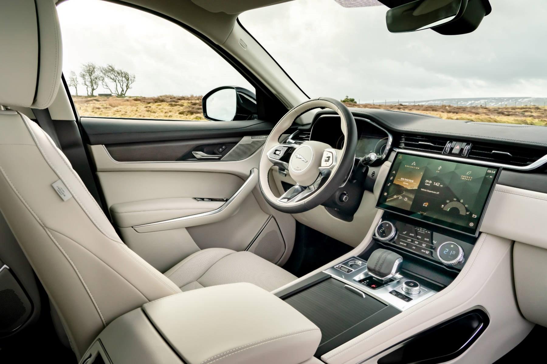 Jaguar F-Pace hybrid interior