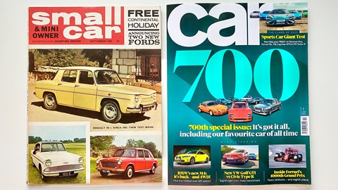 One of Keith's most prized collections is a complete run of CAR Magazine