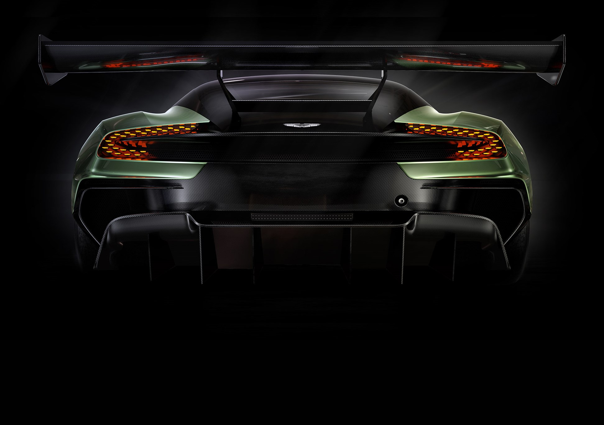 Mclaren p1 gtr extreme track weapon unveiled pictures - Rear Of The Year The New Aston Martin Vulcan Has Quite A Bottom