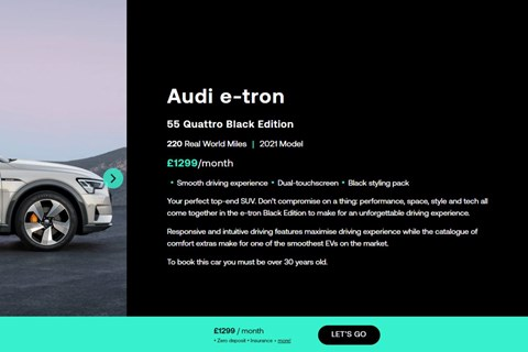 Audi e-tron subscription