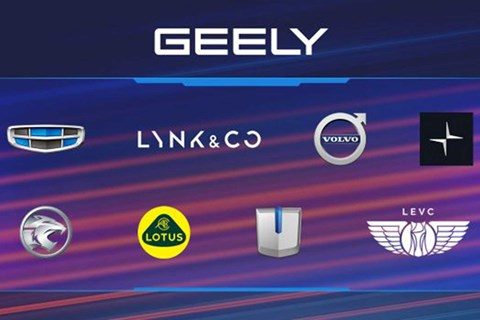 Geely brands include Volvo, Lynk & Co and Lotus
