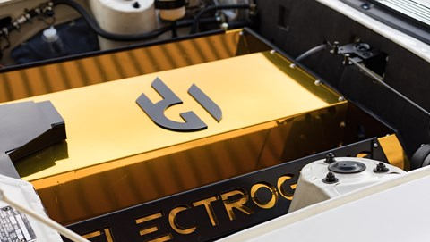 Electrogenic replaces the Stag's V8 engine with a 37kWh battery pack and 80kW motor