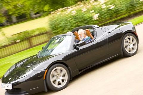 Tesla Roadster ended up sharing little with the Elise