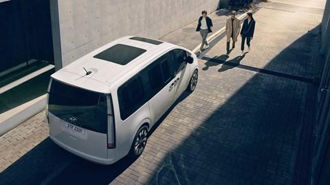 2021 Hyundai Staria rear three-quarter