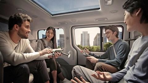 2021 Hyundai Staria rear seating area