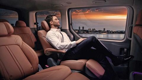 2021 Hyundai Staria reclining middle-row seats