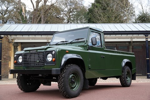 The Land Rover hearse is based on a Td5 military-spec Defender (Getty)