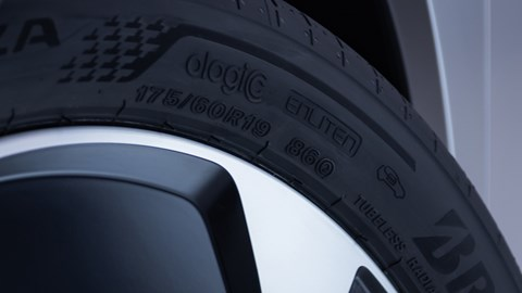 Bridgestone will mark its EV-specific tyres with a charging logo