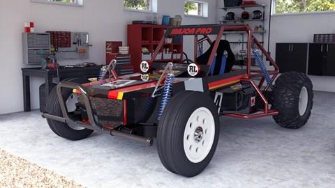 Tamiya Wild One Max - in garage