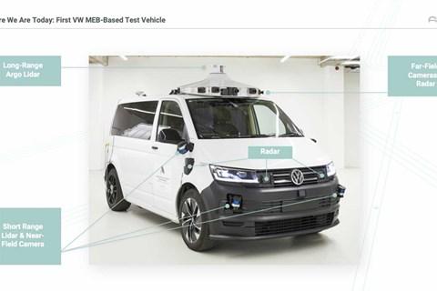 VW's driverless electric T6 Transporter prototype