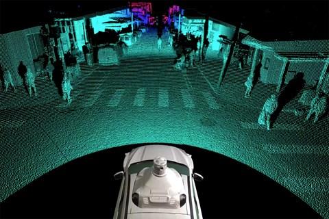 Argo LIDAR's field of vision