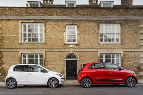 Renault Twingo versus Volkswagen Up
