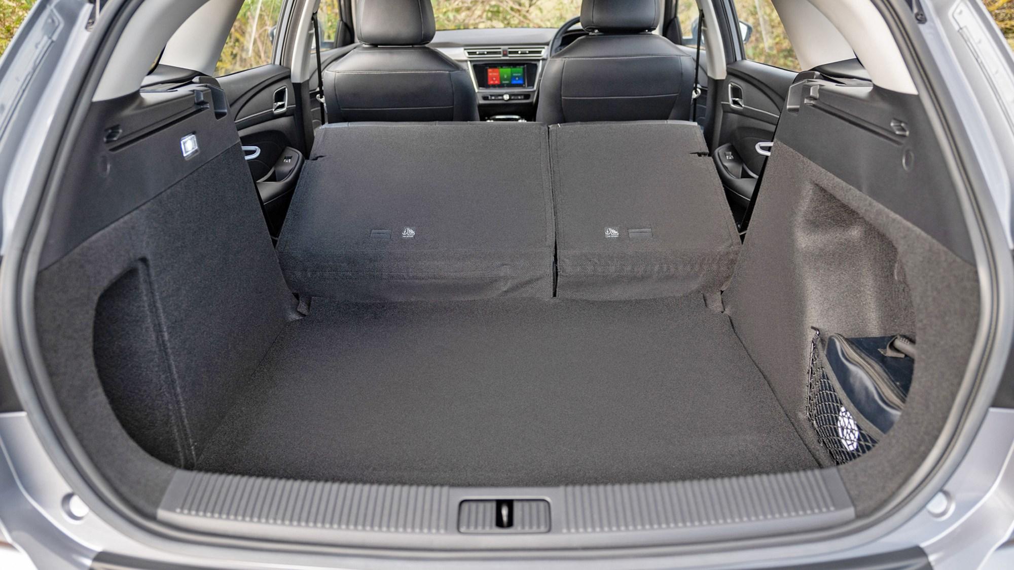 Grey MG5 EV estate boot space