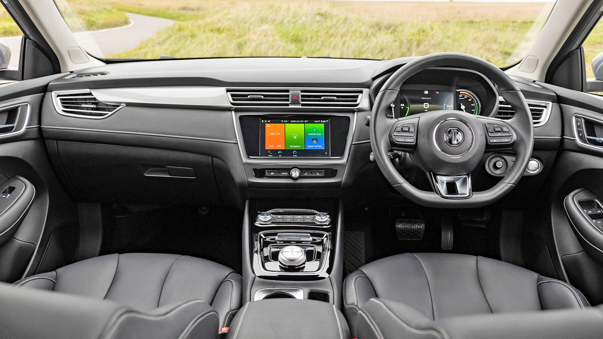 Grey MG5 EV estate dashboard