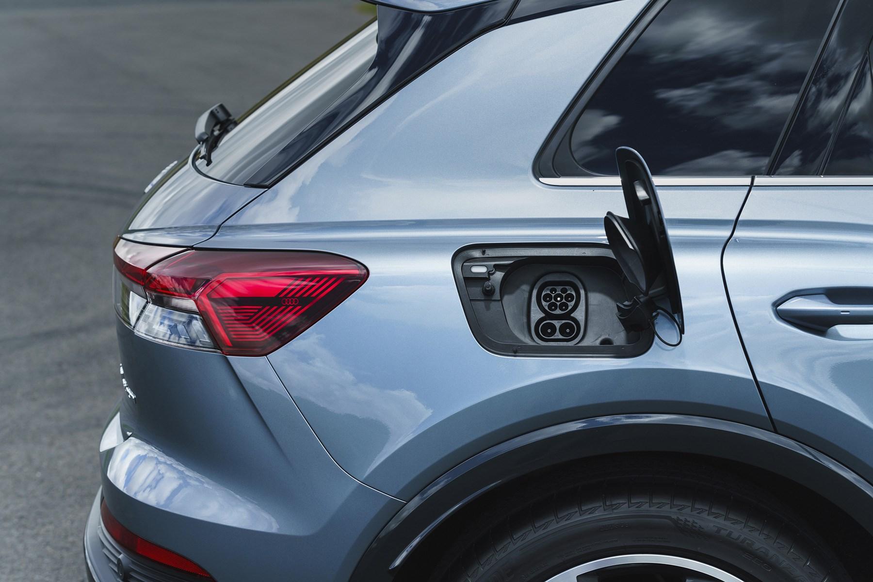 Audi Q4 e-Tron charging port