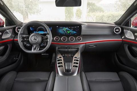 amg gt four-door interior