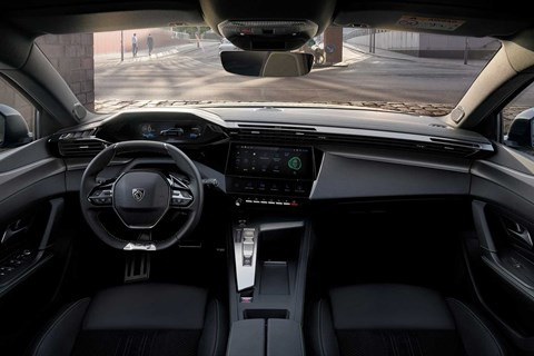 New Peugeot 308 SW estate dashboard