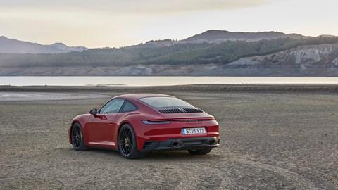 Porsche 911 GTS on beach