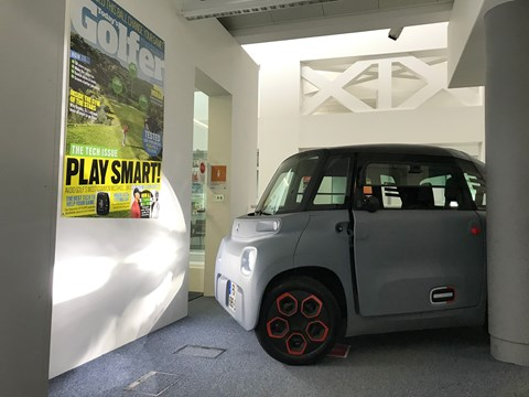 Reaching the parts of the city other cars cannot reach: the Citroen Ami inside Bauer Media HQ