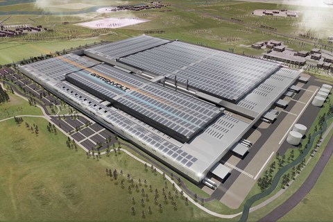 Aeriel view of Brtishvolt's gigafactory, due to open late 2023