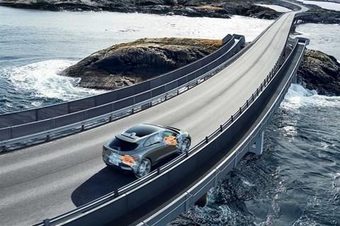 Tech cutaway of Jaguar's iPace electric car