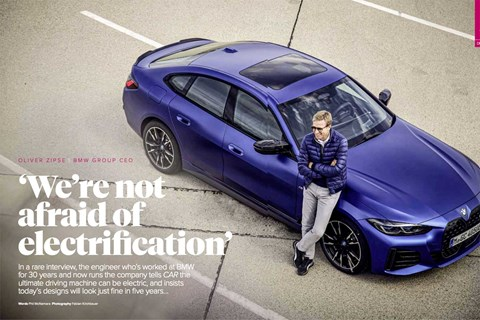 Exclusive interview with BMW's Oliver Zipse in CAR's September 2021 issue