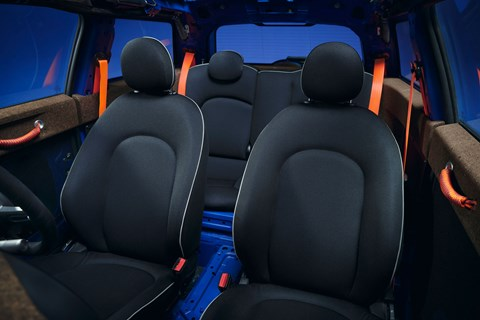 mini strip interior seats