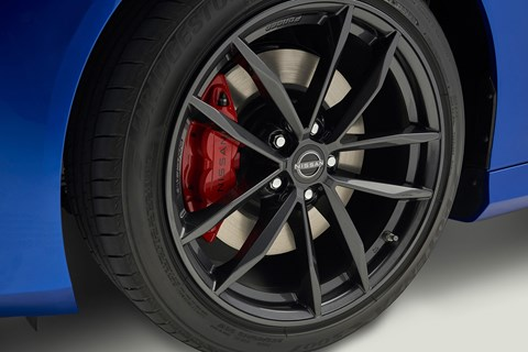 Nissan 370Z Performance wheels and suspension: tuned for sporty response