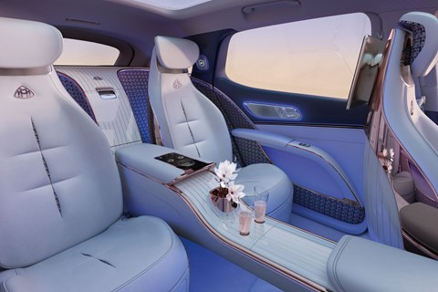maybach eqs rear seats