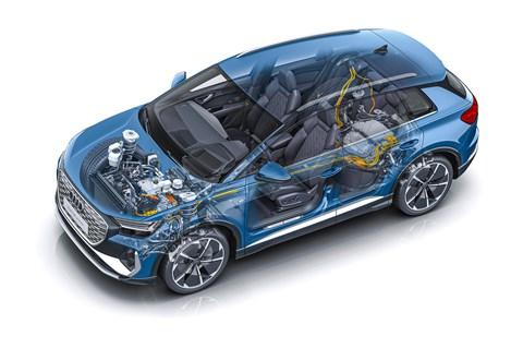 Audi Q4 technical sketch