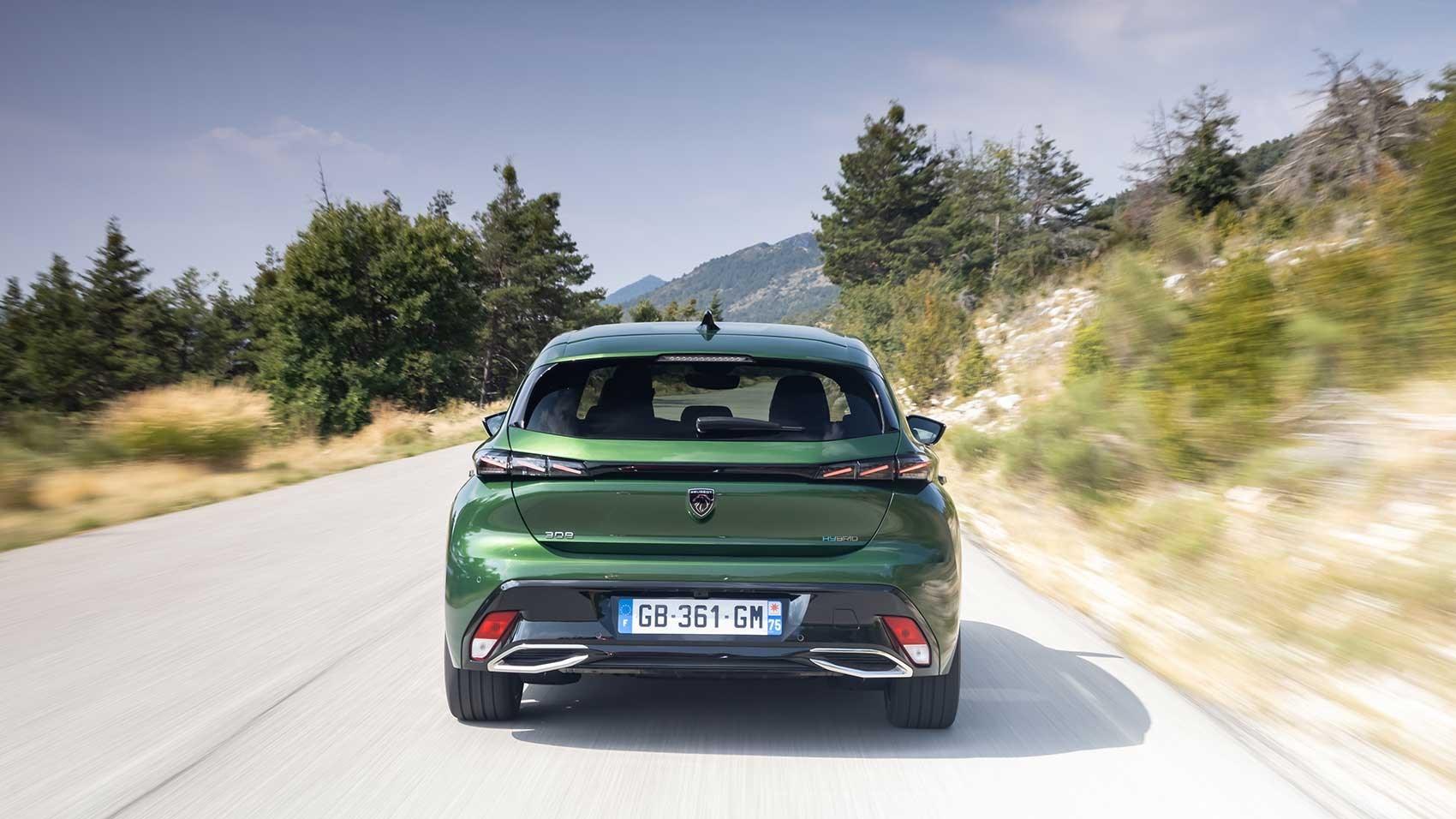 Peugeot 308 rear driving shot
