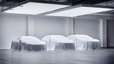 Polestar 3, 4 and 5 (right to left)